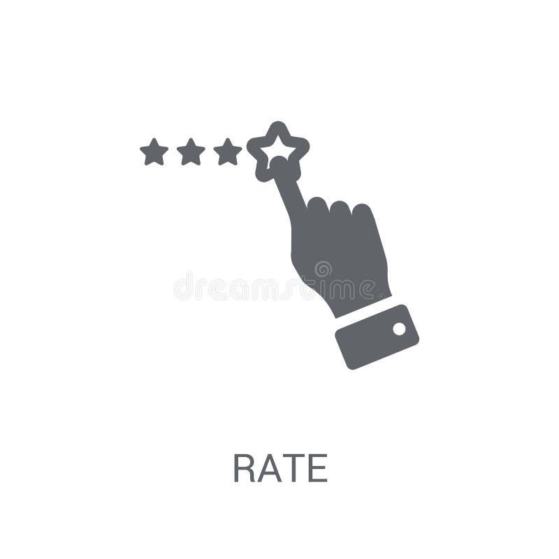 Tempo ikona Modny tempo logo pojęcie na białym tle od Sta ilustracja wektor