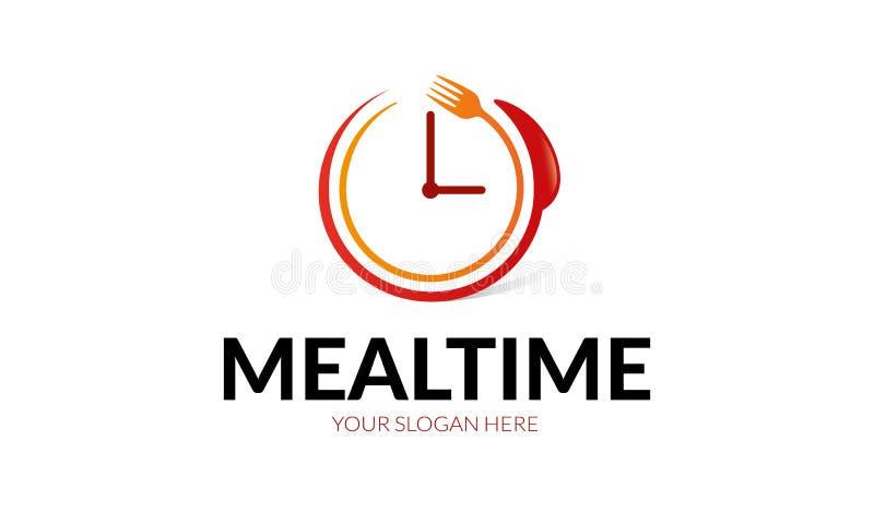 Tempo Logo Template da refeição ilustração royalty free