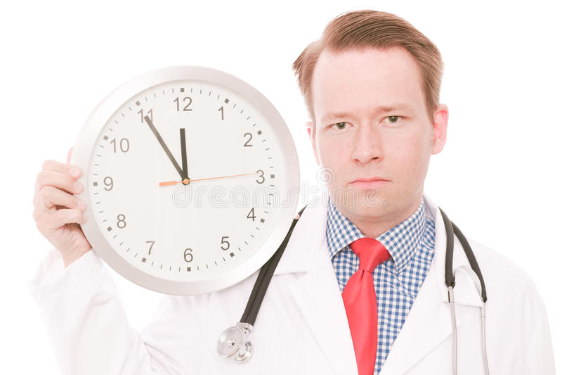 Tempo medico serio immagini stock