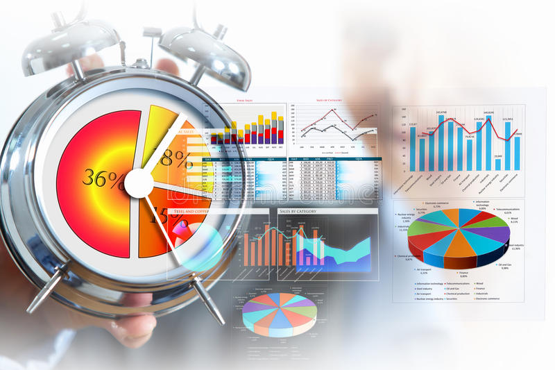 Tempo no negócio imagem de stock