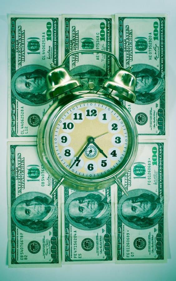 Tempo nel concetto dei soldi immagini stock