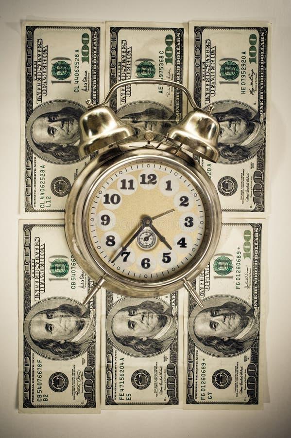 Tempo nel concetto dei soldi fotografie stock libere da diritti