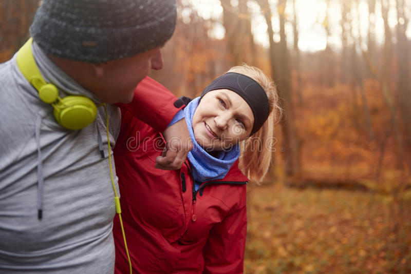 Tempo pareggiante durante l'autunno fotografia stock