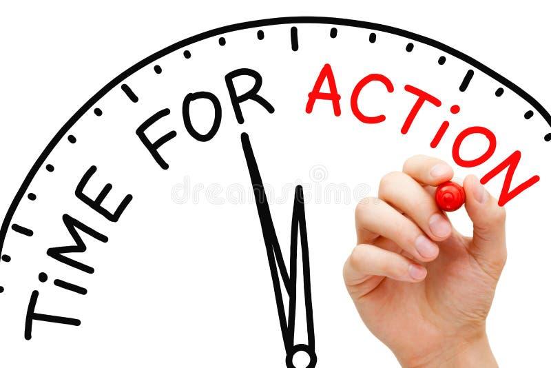 Tempo per azione immagine stock