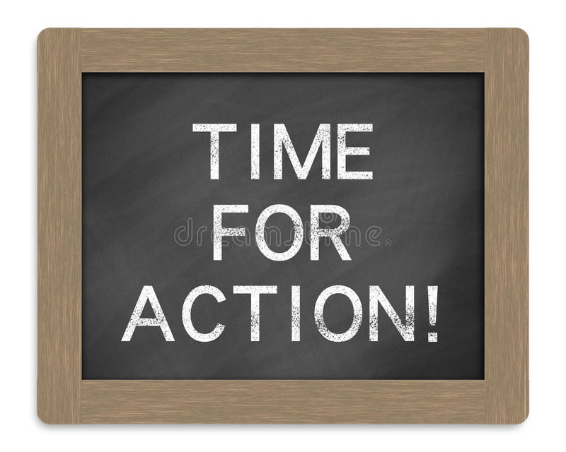 Tempo per azione immagine stock libera da diritti