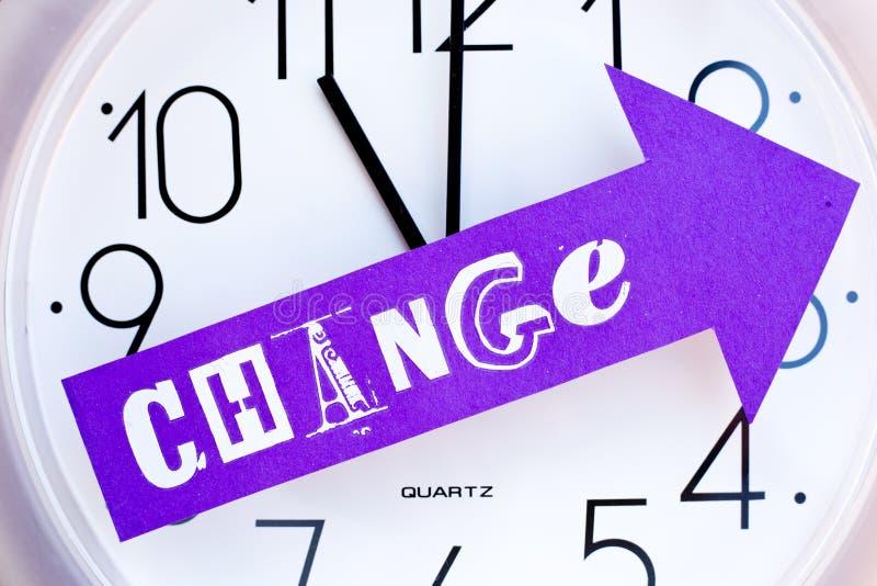 Tempo per cambiamento immagini stock