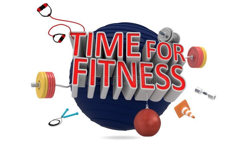 Download Tempo per forma fisica illustrazione di stock. Illustrazione di funzionare - 55350938