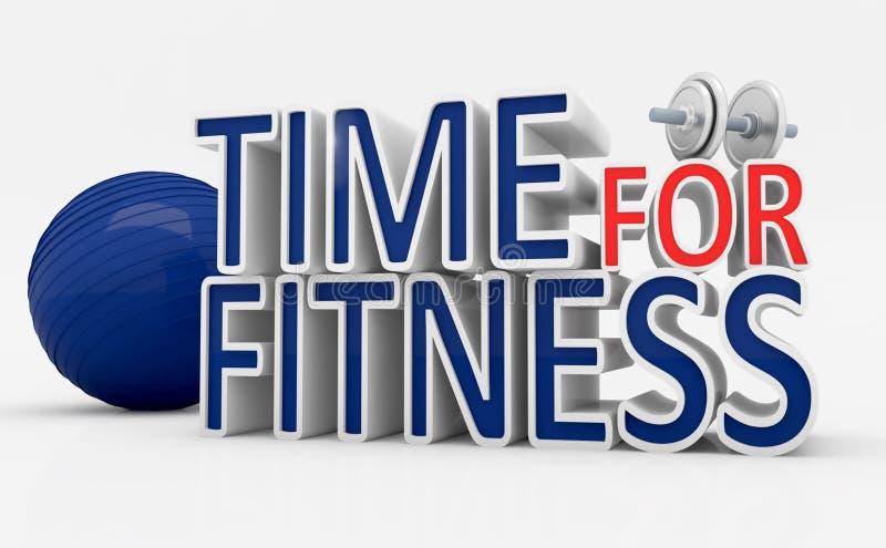 Download Tempo per forma fisica illustrazione di stock. Illustrazione di pareggiare - 55350955