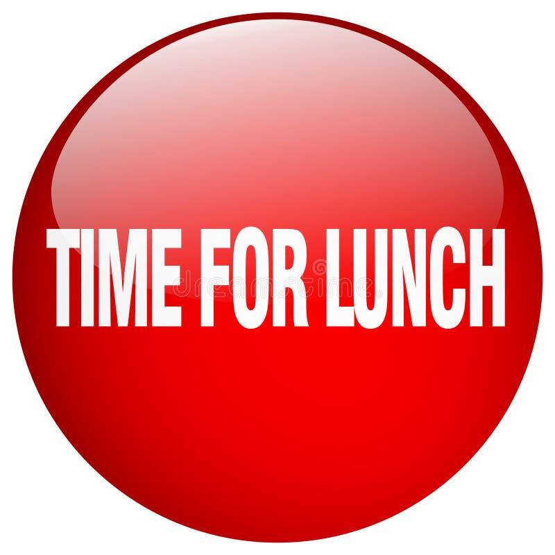 tempo per il bottone del pranzo illustrazione vettoriale