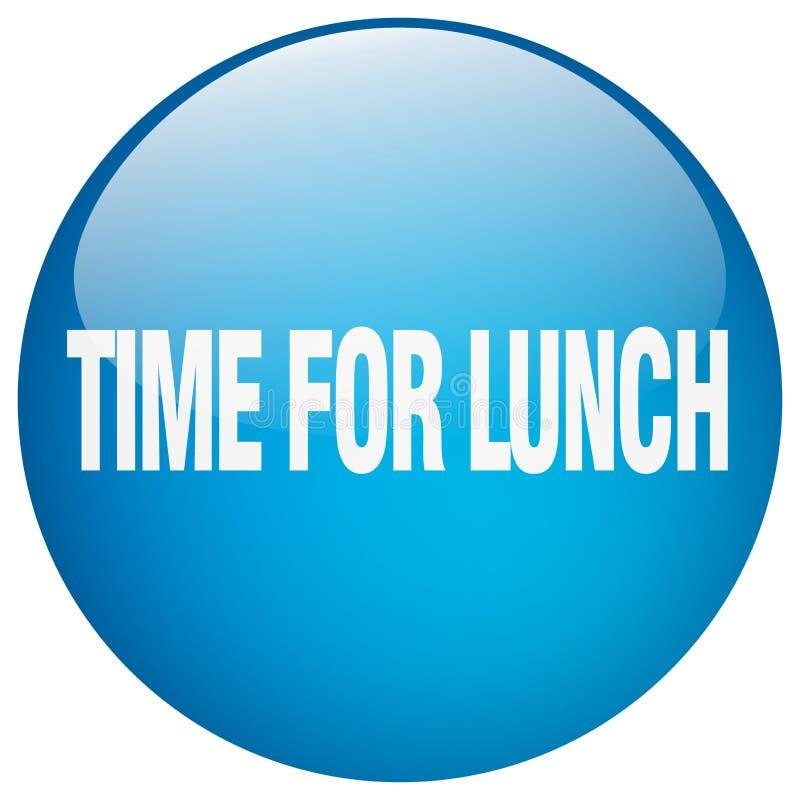 tempo per il bottone del pranzo royalty illustrazione gratis