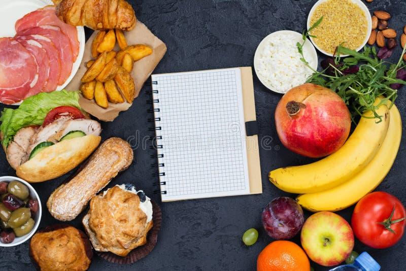 Tempo per la dieta concetto di digiuno di dieta di 5:2 fotografie stock libere da diritti