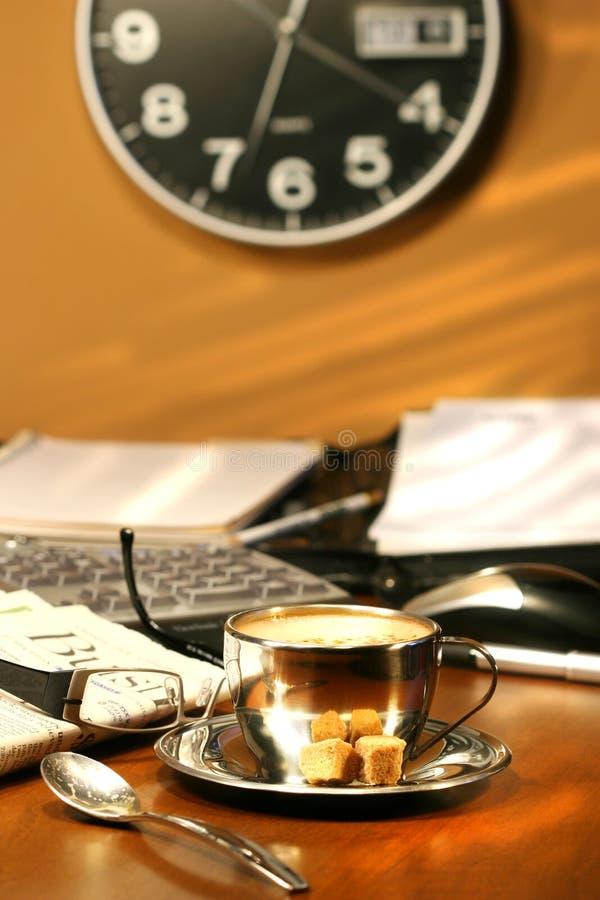 Tempo per un caffè del cappuccino del mocha fotografia stock