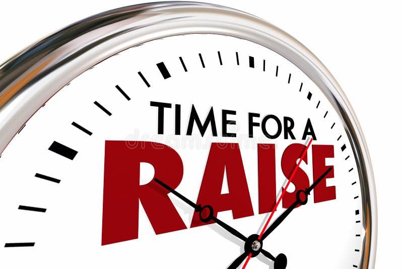Tempo per un orologio di stipendio di più alto reddito di aumento illustrazione vettoriale