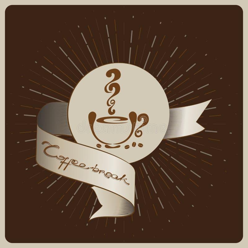 Tempo per una pausa caffè royalty illustrazione gratis