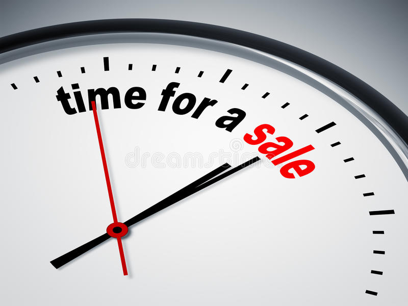 Tempo per una vendita illustrazione vettoriale