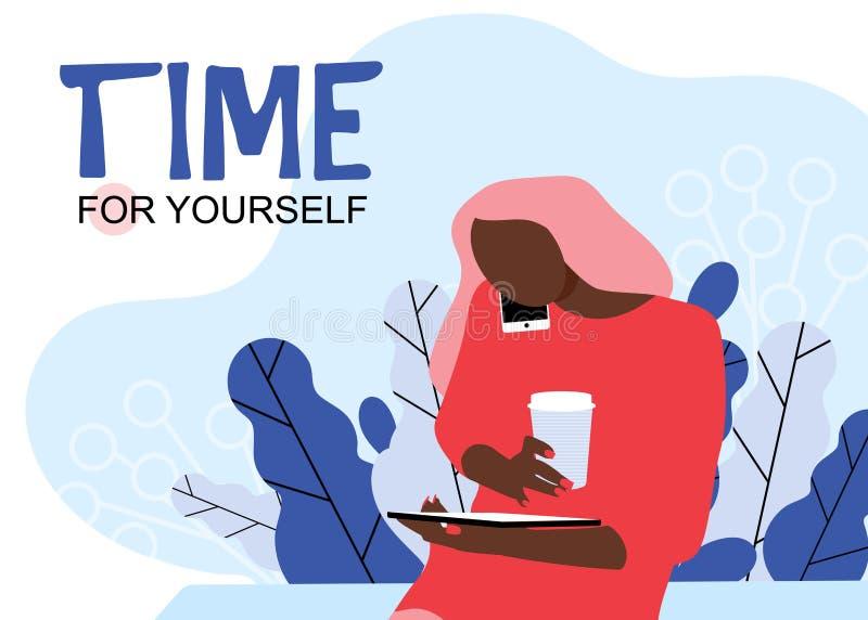 Tempo per voi stesso Isolato illustrazione vettoriale