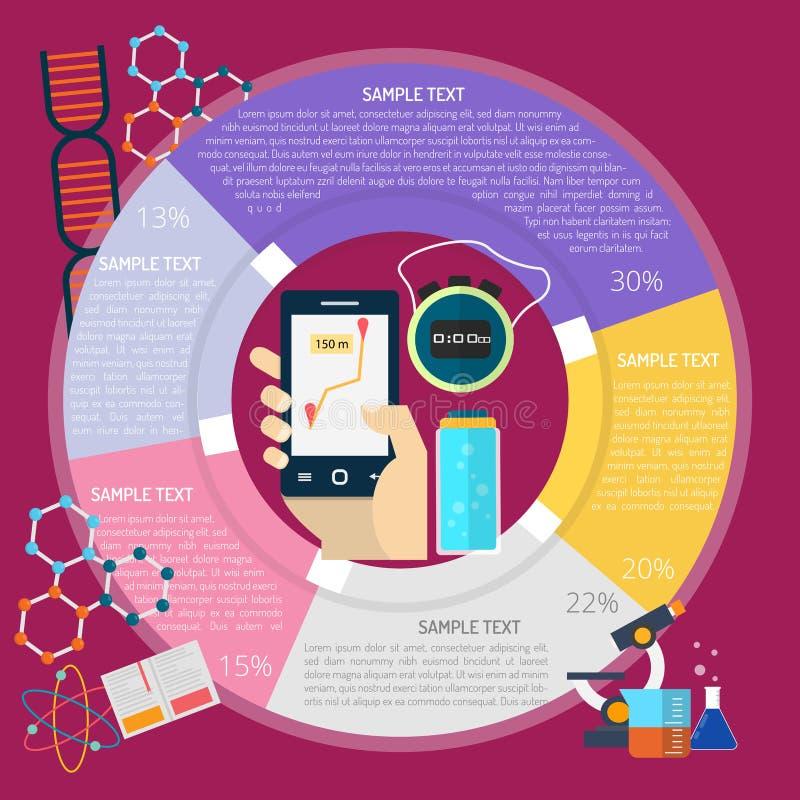 Tempo que corre Infographic ilustração stock