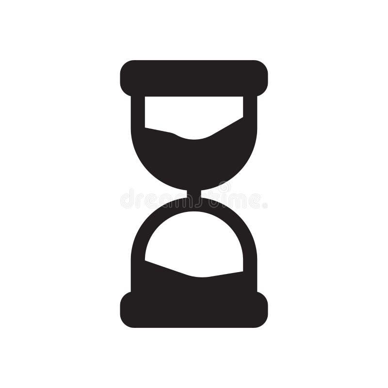 Tempo que passa o ícone Tempo na moda que passa o conceito do logotipo no CCB branco ilustração royalty free