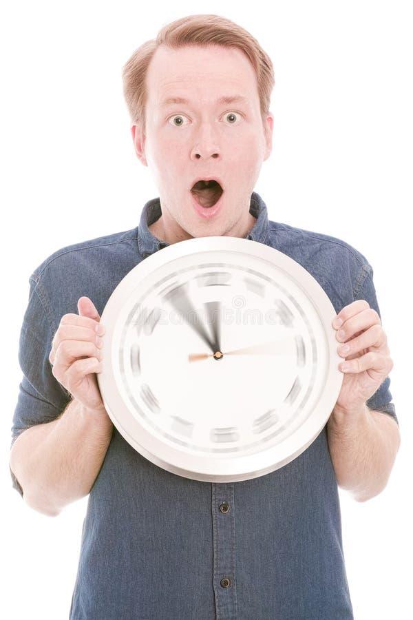 Tempo scioccante (l'orologio di filatura passa la versione) fotografia stock