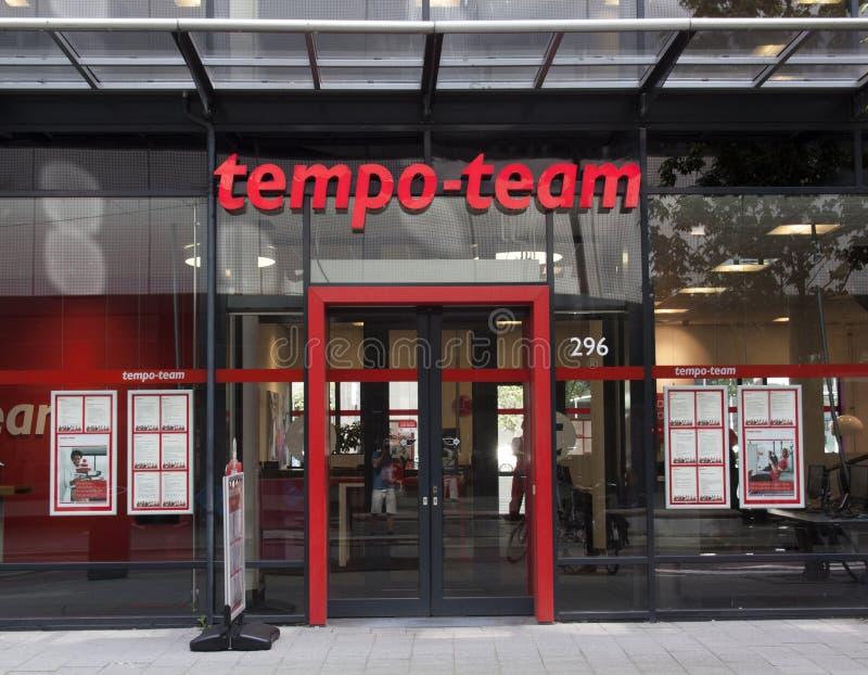 Tempo-Team stockfoto