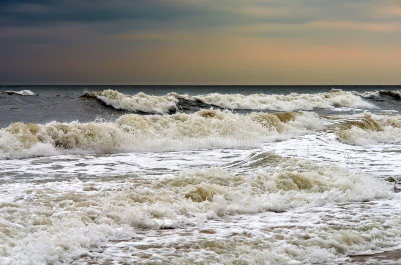Tempo tempestoso, Oceano Atlantico fotografia stock libera da diritti