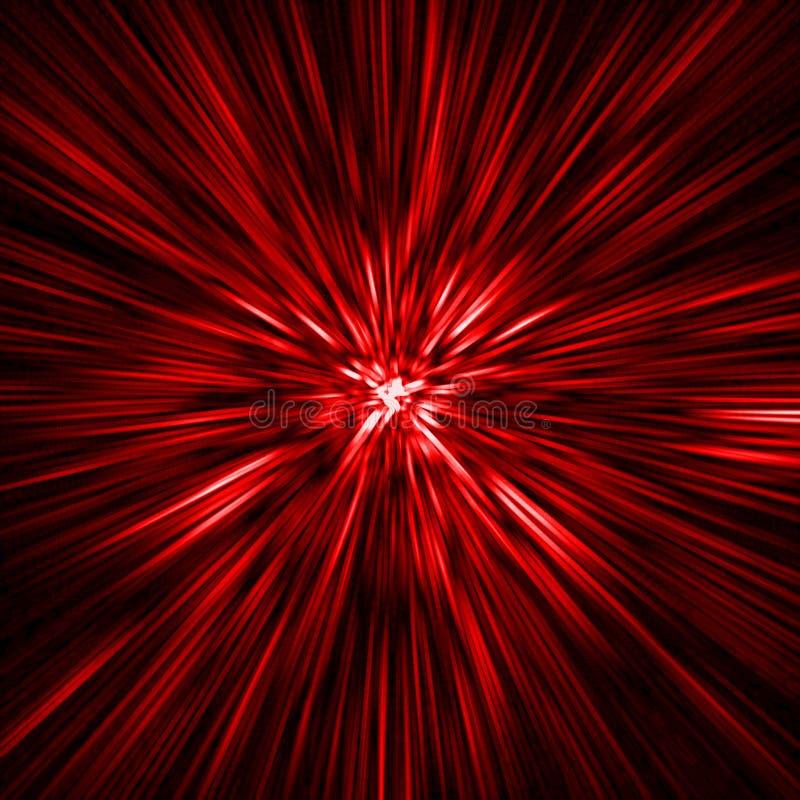 Tempo-traforo rosso illustrazione di stock