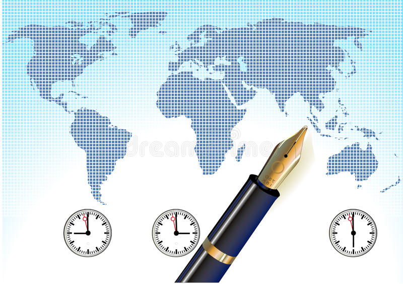 Tempo universale, globale royalty illustrazione gratis