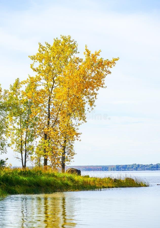 Temporada de otoño en la isla de Bizard en Montreal fotografía de archivo libre de regalías