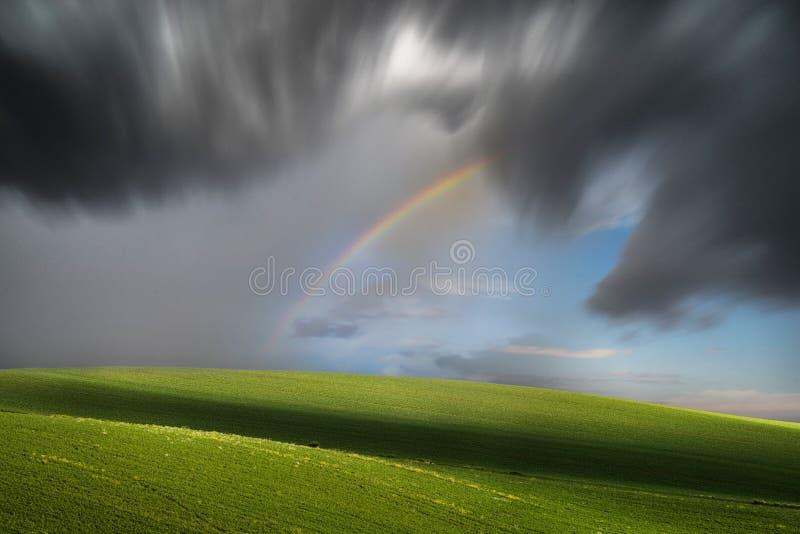 Temporal de lluvia largo de la exposición imagenes de archivo