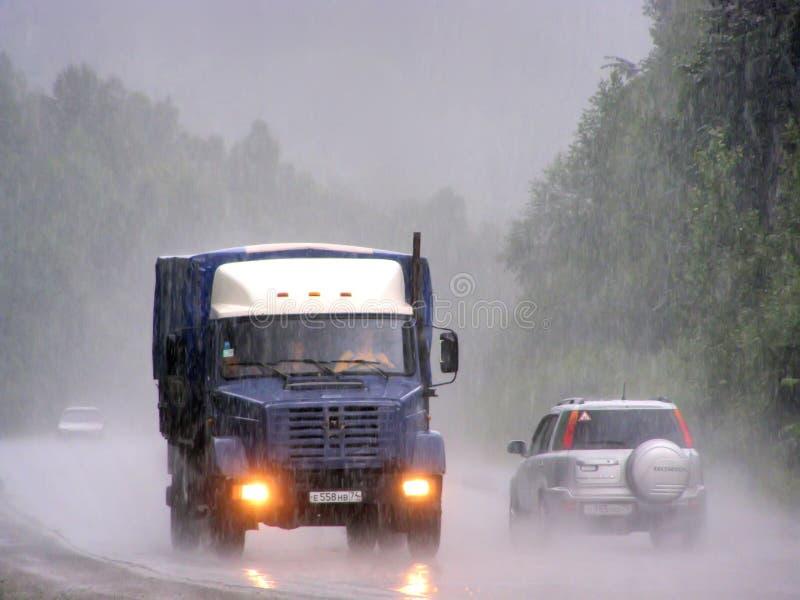 Temporal de lluvia pesado fotos de archivo