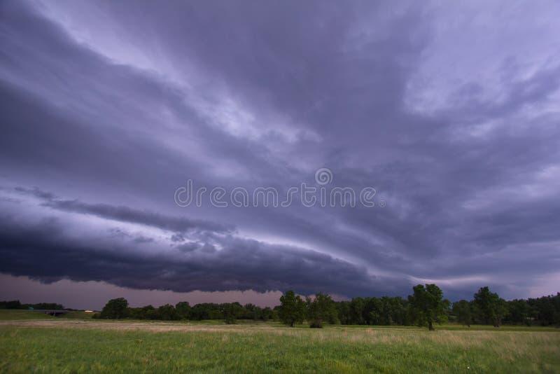Temporal severo perto de McPherson, Kansas imagens de stock royalty free