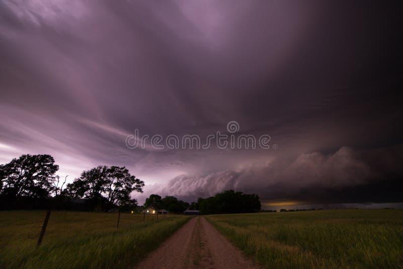 Temporale severo vicino a Pierce, Nebraska fotografie stock libere da diritti