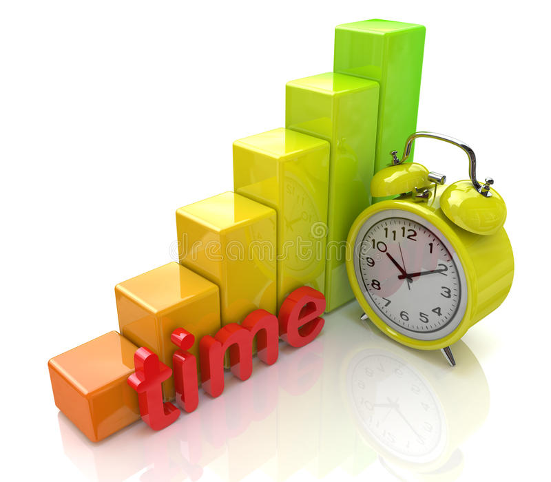 Temporary Growth Chart Royalty Free Stock Image
