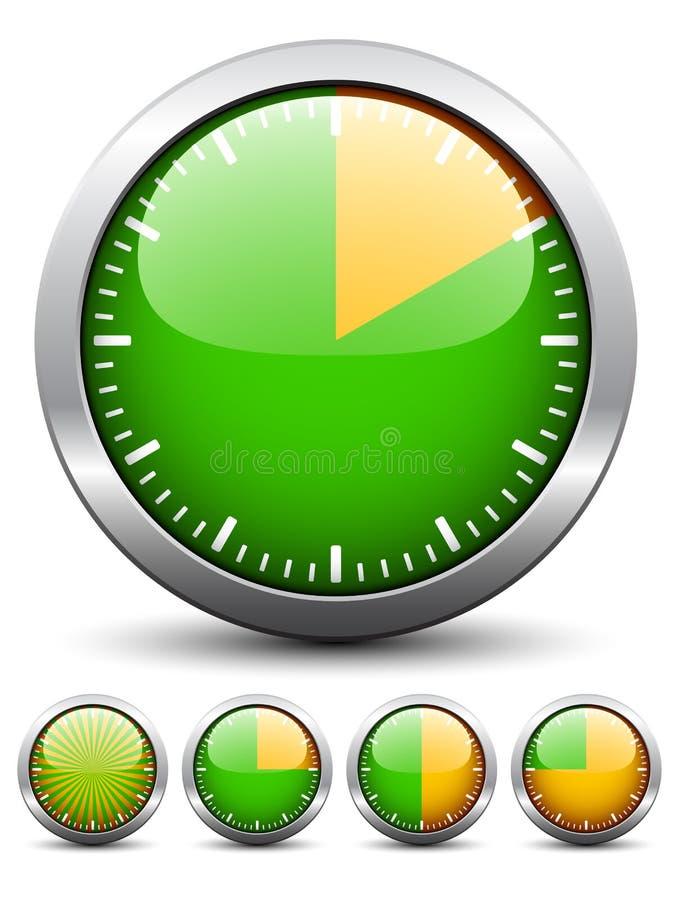 Temporizador - tempo fácil da mudança cada um minuto ilustração stock
