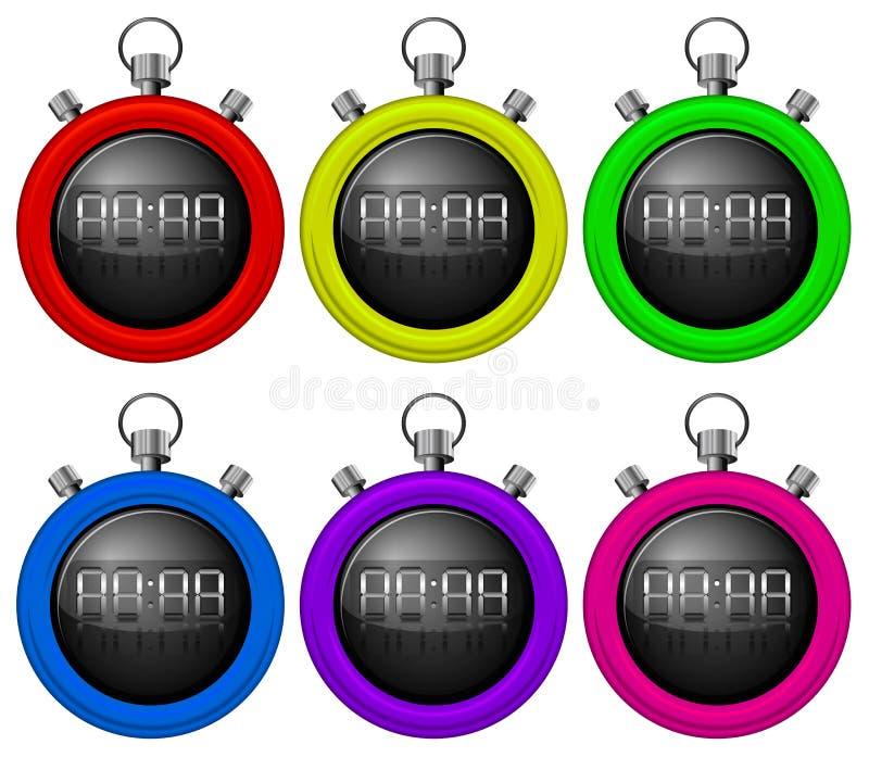 Temporizadores coloridos ilustração stock