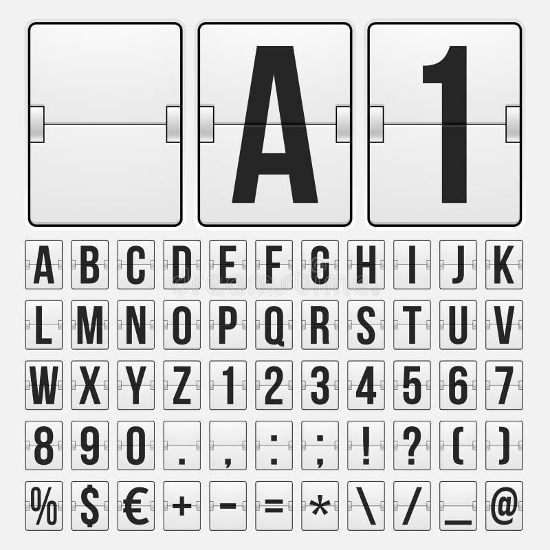 Temporizzatore di conto alla rovescia, tabellone segnapunti meccanico di colore bianco royalty illustrazione gratis