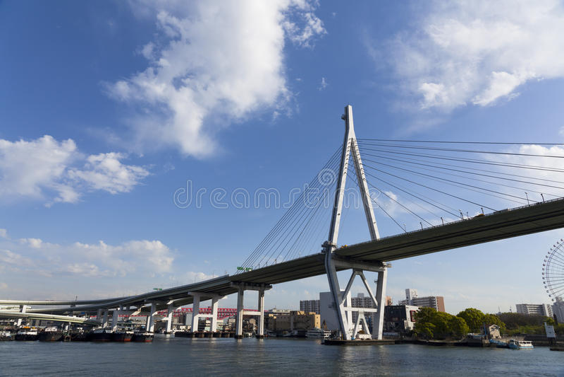 Tempozan Bridge. Osaka Tempozan Bridge in Japan stock images