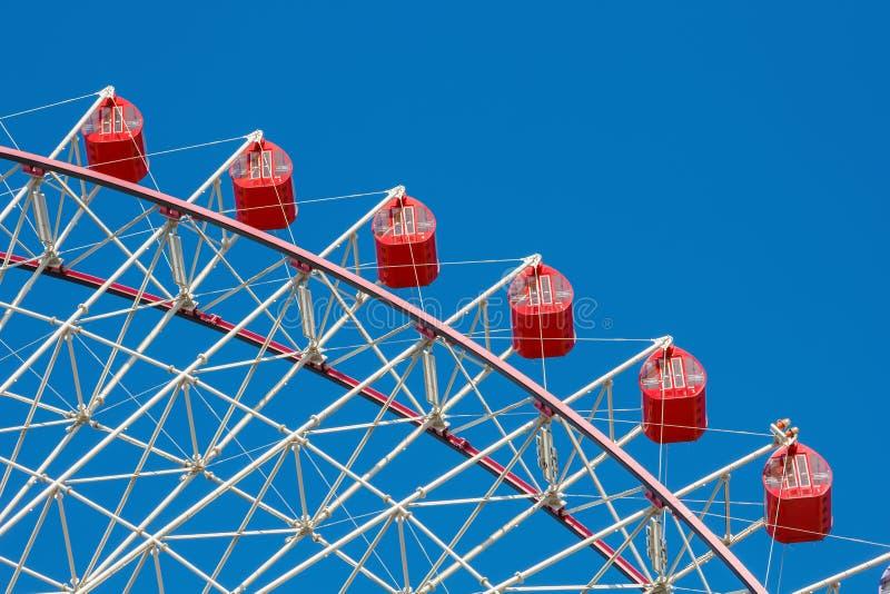 Tempozan Ferris Wheel in Osaka stock afbeeldingen