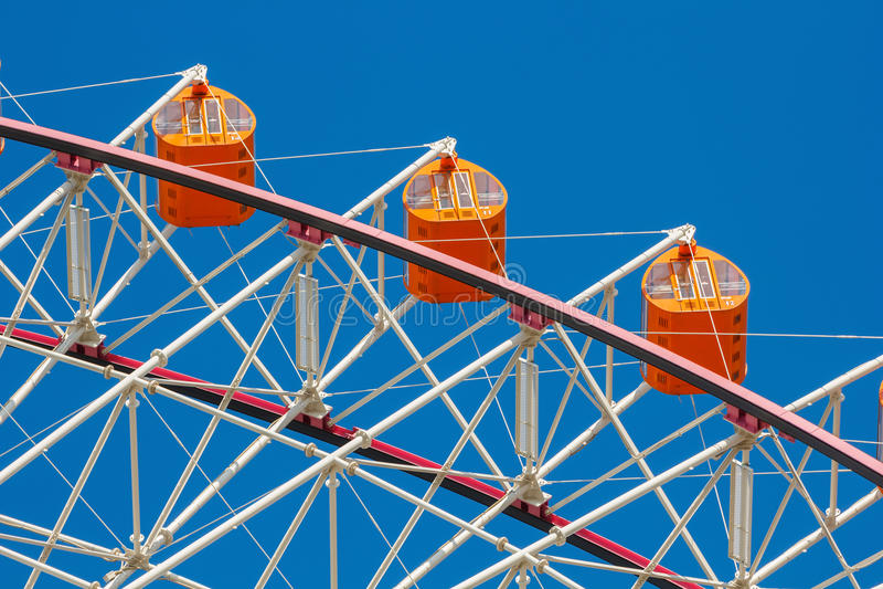 Tempozan Ferris Wheel in Osaka stock foto