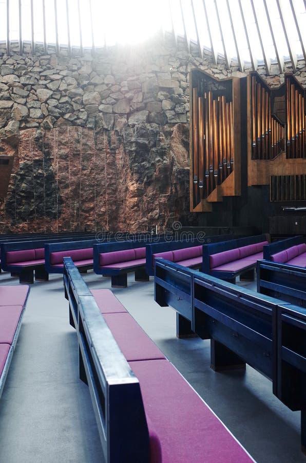 Temppeliaukiokerk, HELSINKI, FINLAND royalty-vrije stock foto