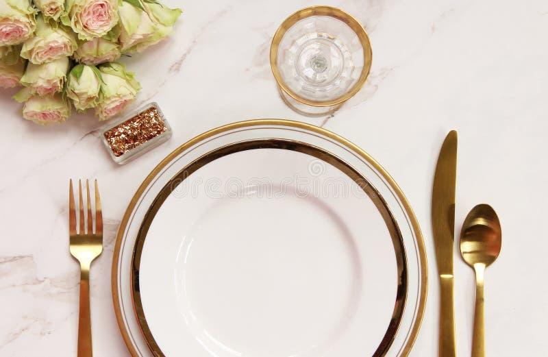 Temps élégant de repas photographie stock libre de droits