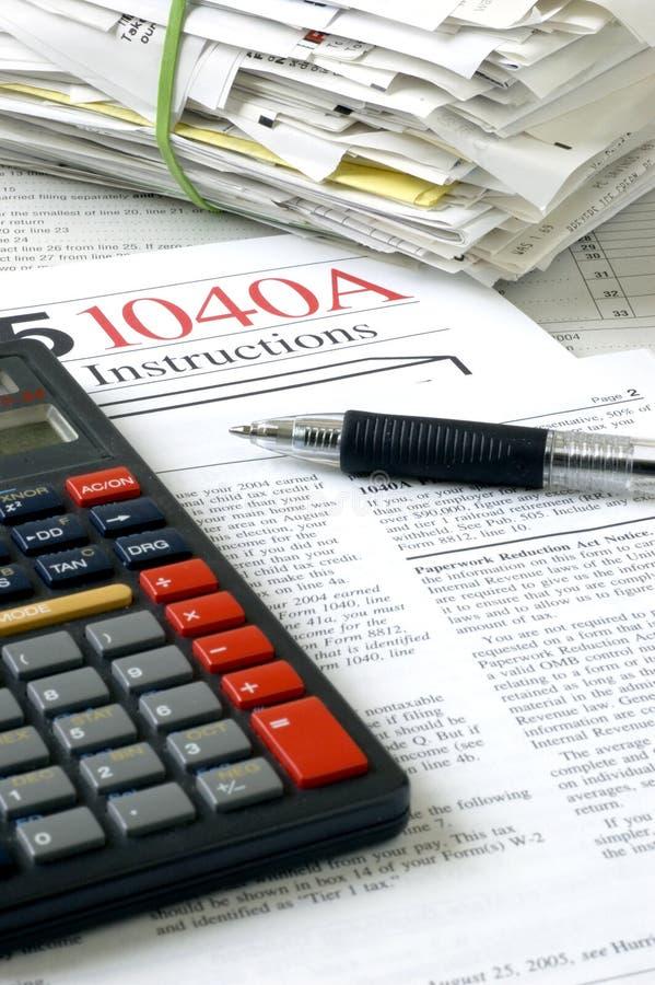 Temps 2 d'impôts image stock