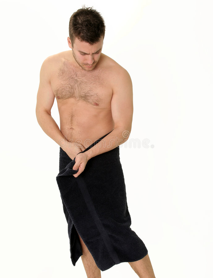 Download Temps #2 - Homme De Douche En Essuie-main Photo stock - Image du muscles, nudité: 82070