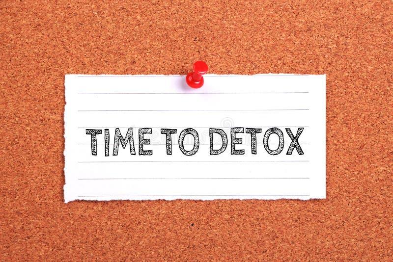 Temps au Detox image stock