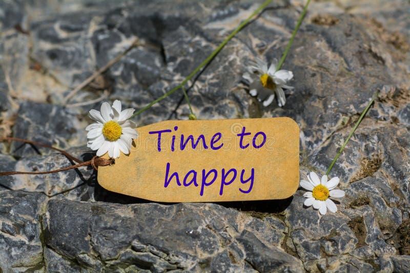 Temps au label heureux images stock