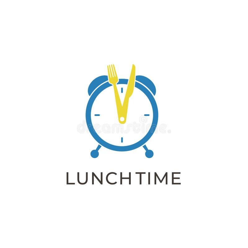 Temps créatif Logo Design Vector Art Logo de déjeuner illustration libre de droits