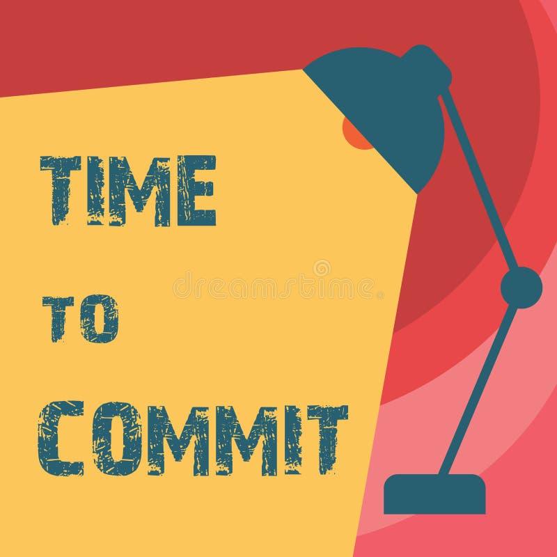 Temps d'écriture des textes d'écriture de commettre Engagement ou obligation de signification de concept qui limitent la liberté  illustration libre de droits