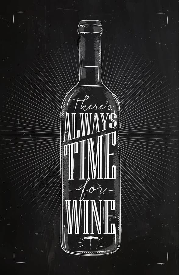 Temps d'affiche pour la craie de vin illustration libre de droits