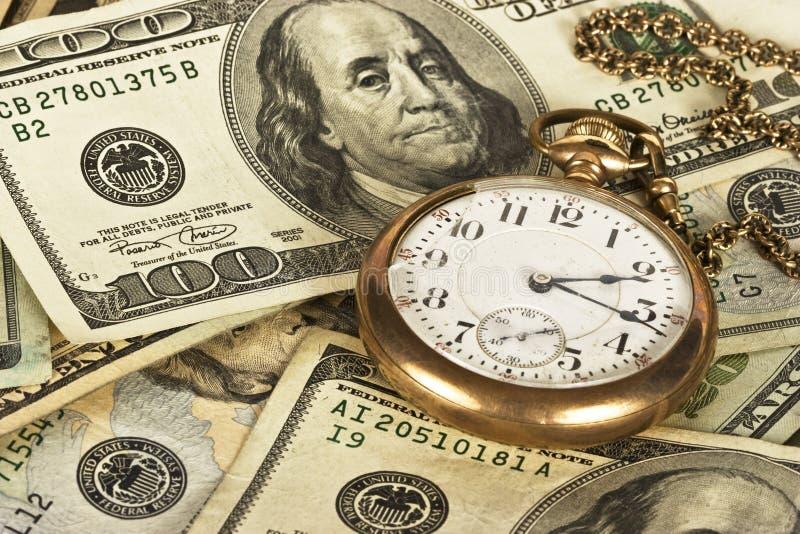 temps d'argent photo stock