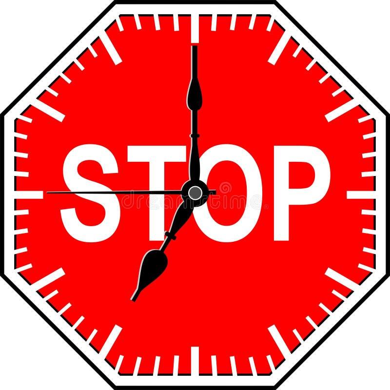 Temps d'arrêt illustration stock